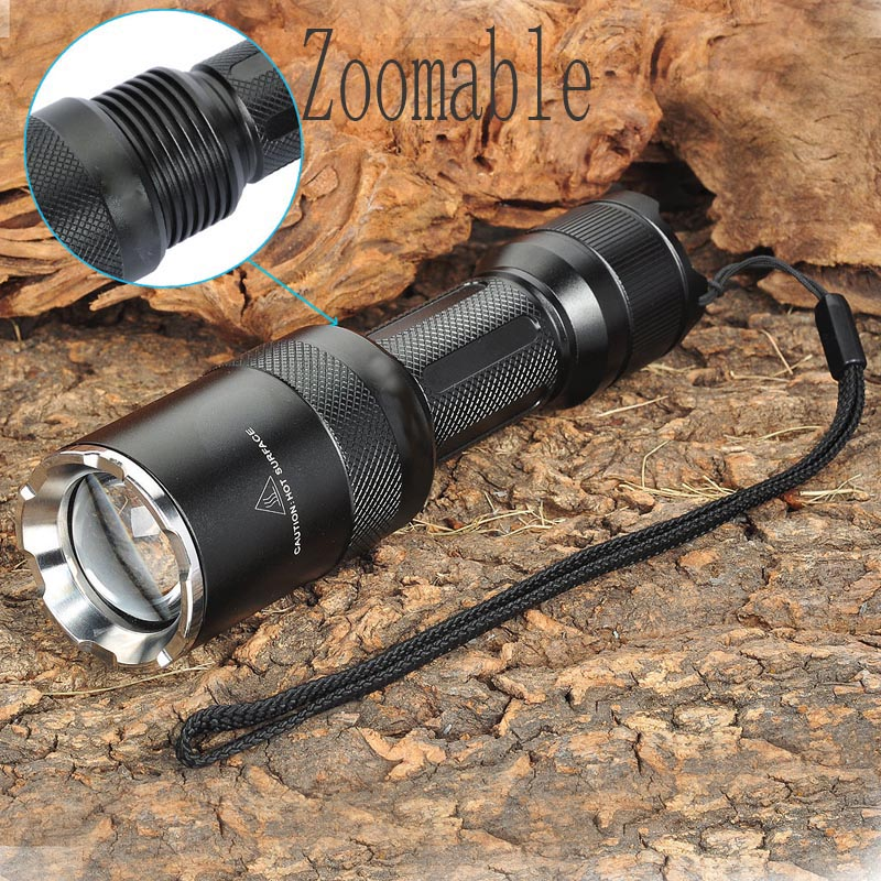 Ultrafire Z6 3800LM5-Mode Memory White LED Convex Lens Flashlight luz Tactical Switch Torch Hunting LED Flashlight (1 x 18650) ultrafire xl e2 150lm 3 mode white zooming flashlight w cree xp e r2 grey 1 x 18650