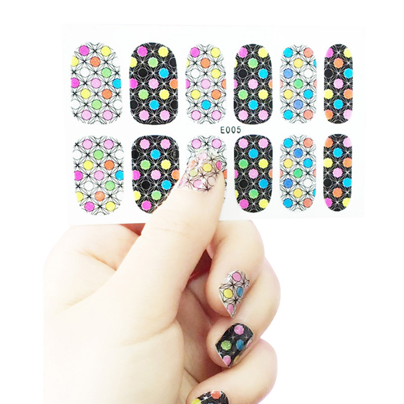Europe Style Nails Posted 27 Style All In One Nail Stickers Style