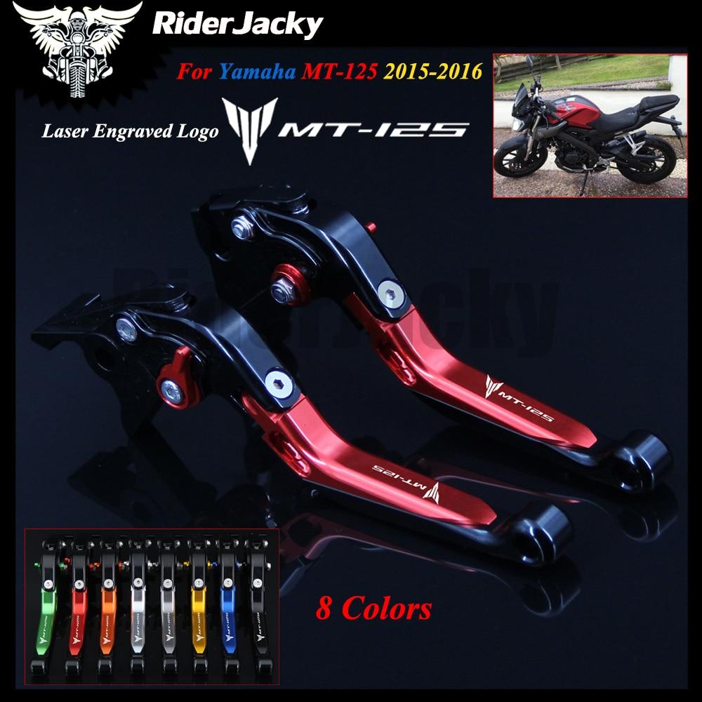 Tipo pieghevole Nero colore Leva della frizione del freno Pieghevole pieghevole estendibile Set per Yamaha MT-125//R125 2014-2017