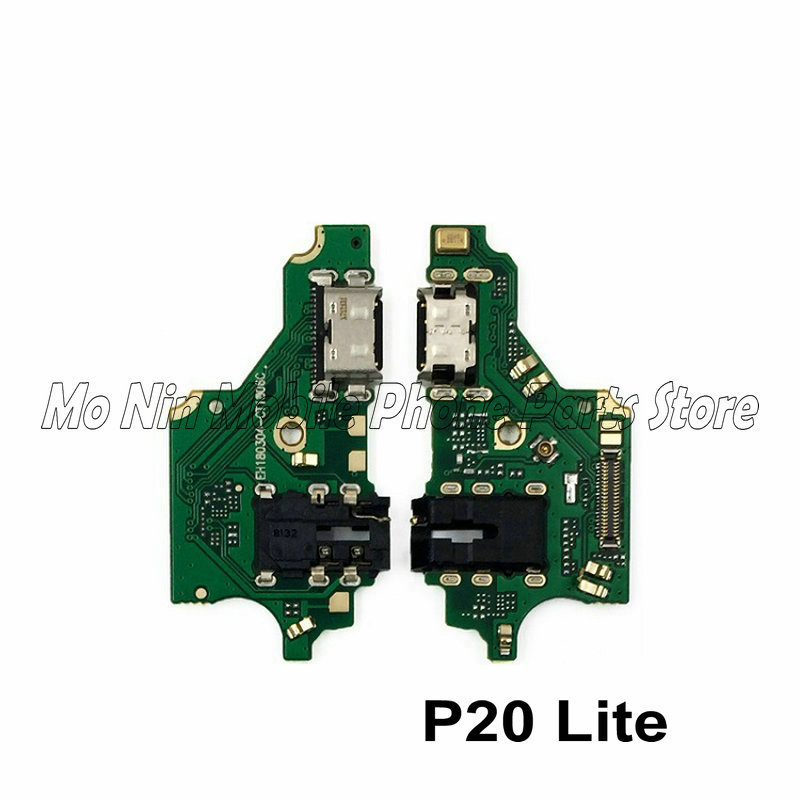 New Microphone Module+USB Charging Port Board Flex Cable Connector Parts For Huawei P20 / P20 Lite / P20 Pro Replacement image