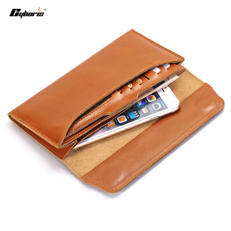 iphone wallet case cyboris genuine leather for iphone 7 7 plus wallet 12460