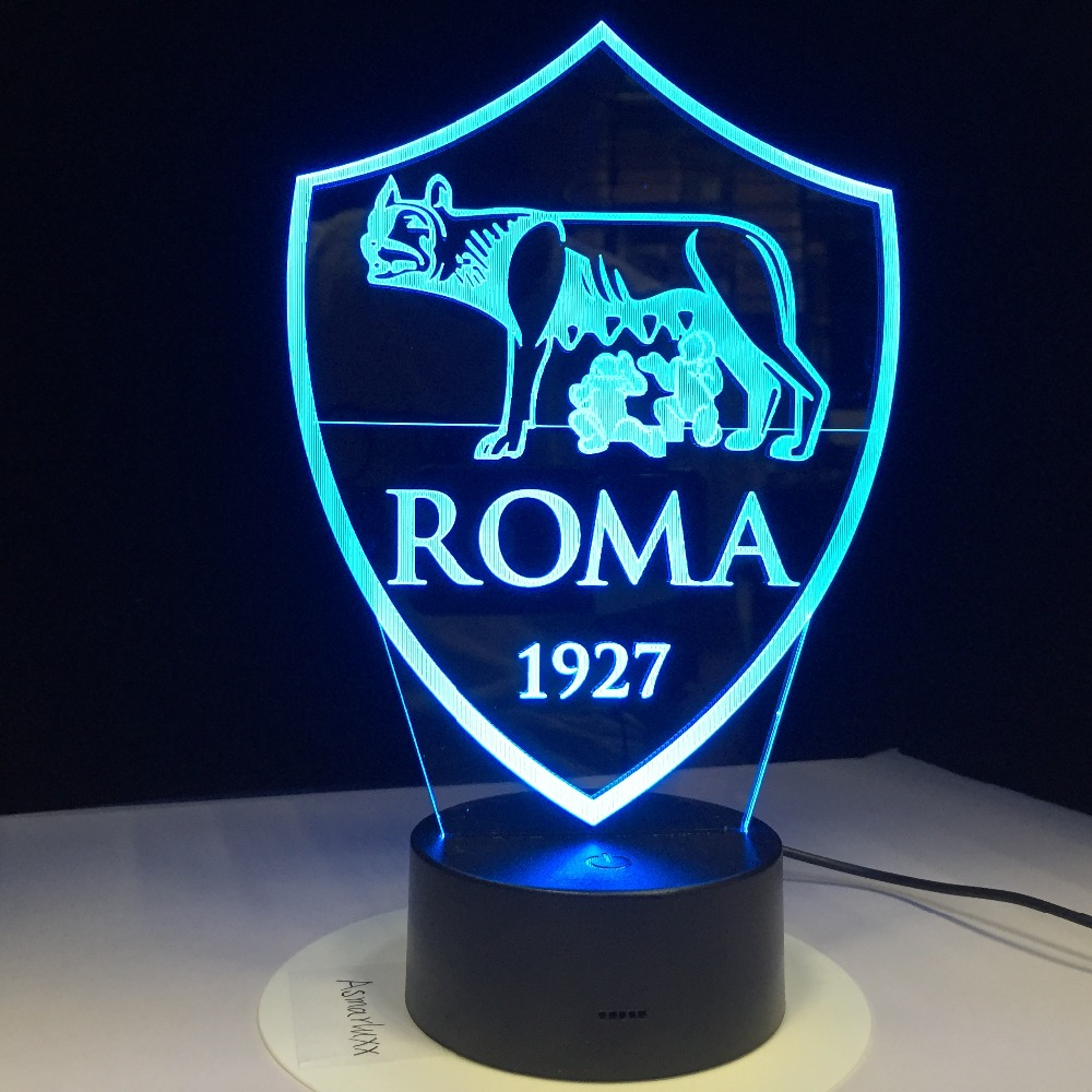 Print AS Roma 3D Lamp USB 3AA Battery LED Night Lamp with 7 Colors Change Touch Sensor Switch Lava Lamp Decorations for Home зарядное устройство optimate ts52 optimate pro 4