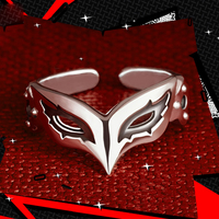 4 Types Persona 5 P5 JOKER Mask Ring 925 Sterling Silver Adjustable Fox Skull Panther Anne Mask Cosplay Jewelry Gift Adjustable