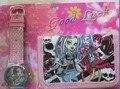 Monstro carteira Alta caricatura relógios New menina e crianças adoráveis crianças bolsa menina Relógio de Pulso relógio de presente de Natal