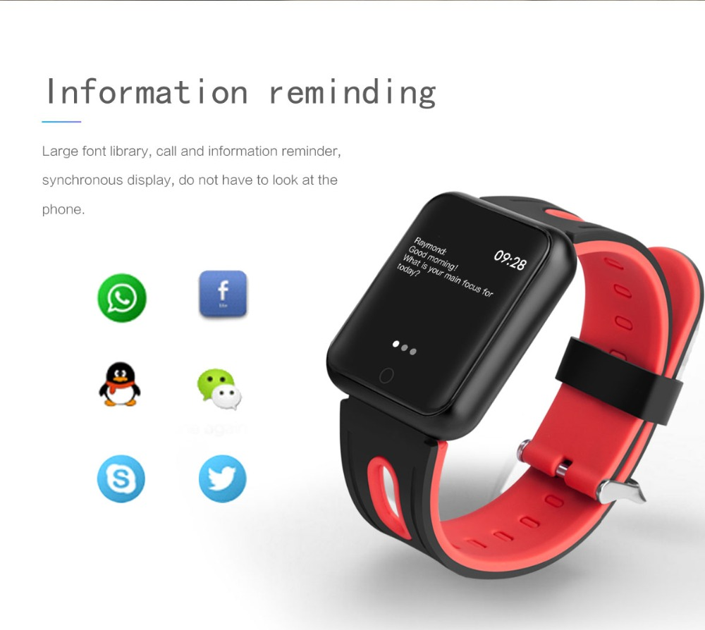 Smart Watch P68 Sports IP68 fitness bracelet activity tracker heart rate monitor blood pressure for ios Android apple iPhone 6 7 15