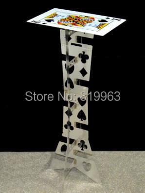 Aluminum folding table (Silver,Poker Pattern) - Magic Tricks,Magic Accessories,Close Up,mentalism Magic Props,Stage magic poker box magic props black