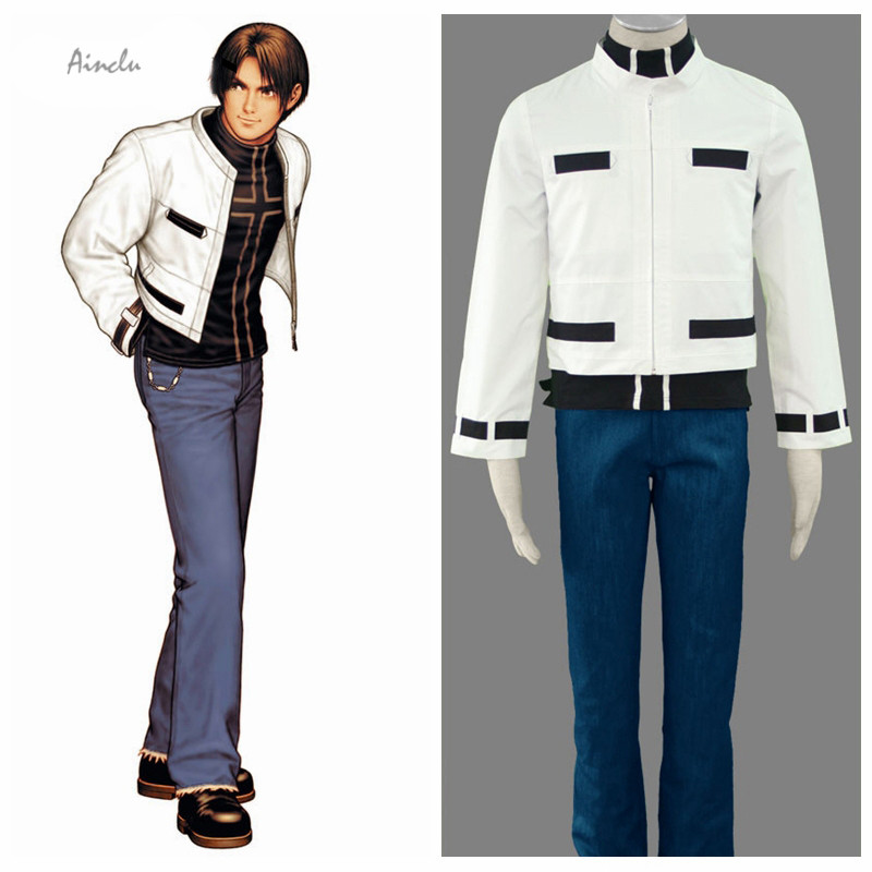 Ainclu Free Shipping Adult Kid The King of Fighters Anime Kyo Kusanagi Halloween Cosplay Costume Customize for plus size adults