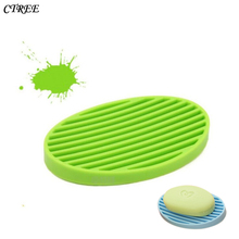 CTREE Simple Silicone Flexible Soap Case Dish Drain Wash Shower Home Bathroom Accessories Multicolor Water C39