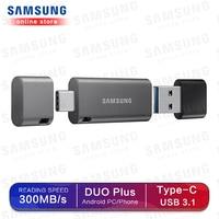Samsung Usb флэш-накопитель 32 ГБ, 64 ГБ, 128 г 256 г двойный Порты и разъёмы флэш-накопитель Usb3.1 Тип C Тип в Pendrive Memory Stick для смартфонов и планшетов