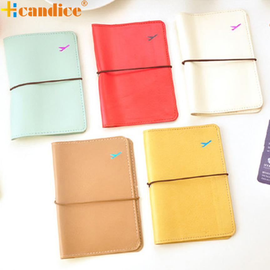 New Travel Leather Passport Holder Card Case Protector Cover Wallet Bag Best Gift drop ship bea668