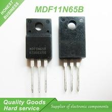Free shipping 10pcs/lot MDF11N65B TO-220F 650V 11A new original