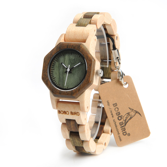 BOBO BIRD Octagon Ladies Wooden Watches LM25 Top Brand Luxury Hours Women Kol in Gift Box as Valentine's Day Gift 3