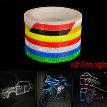 Safety Mark Reflective Tape Sticker Car Styling Self Adhesive Warning Tape Automobiles Motorcycle Reflective Strip
