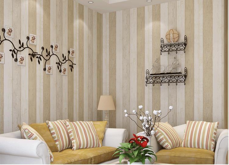 tienda online mediterrneo textura de madera papel pintado a rayas para paredes fondo televisor del saln dormitorio vinilos decorativos murales papel de with