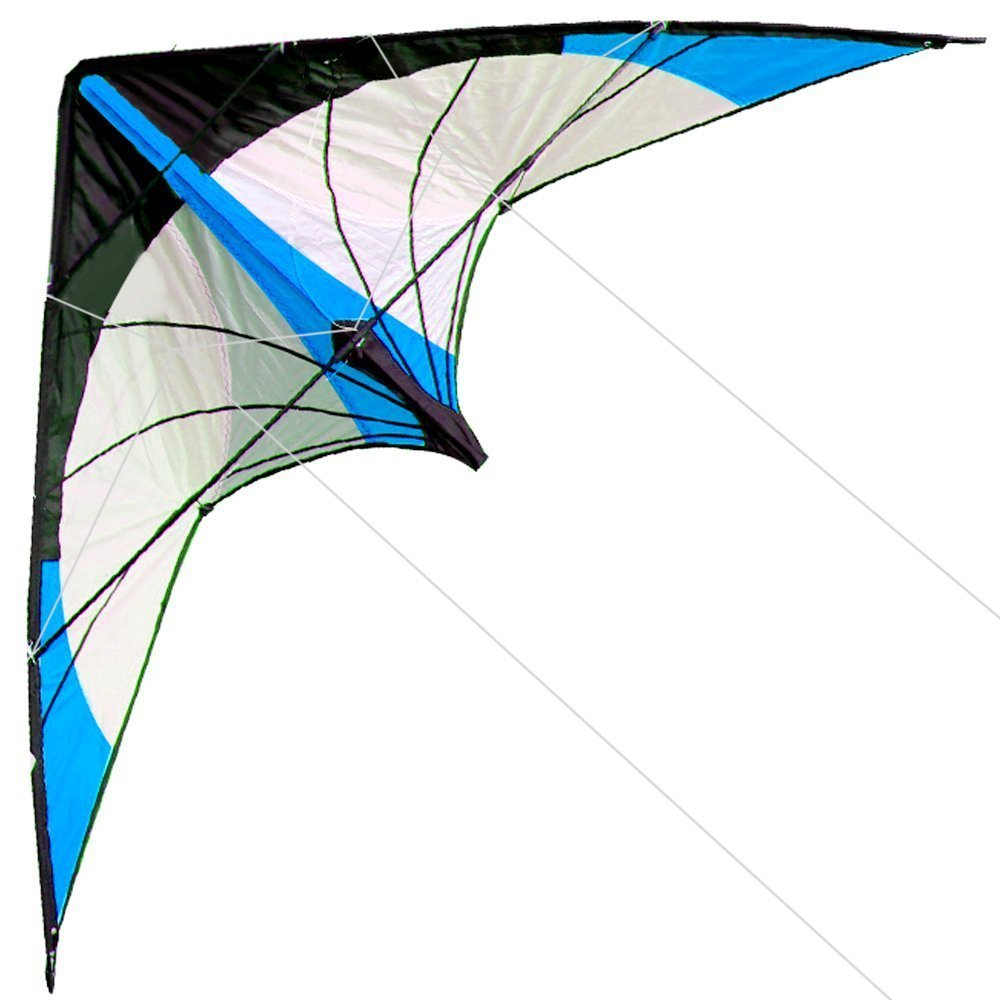 Outdoor Fun Sports BARU 48 Inch Dual Line Stunts Layang-layang / Blue Kite Dengan Handle And Line Good Flying