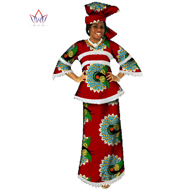 94c4970ce63 African Traditional Women Clothing 2 Pieces Set Women Dashiki Dresses  African Long Skirt   Crop Tops Plus Size 6XL BRW WY049