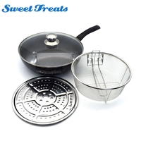 Sweettreats 28CM non stick pan without smoke pan frying pan pan is generally used for gas and induction cooke