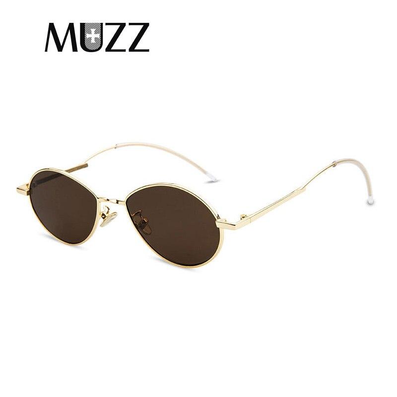 MUZZ 2018 Mode Hommes Femmes Cool Ovale Métal COBALT Nouveau Style lunettes  de Soleil Teinte Océan Lentille Brand Design Lunettes de Soleil Feminino d6208ae36fcc