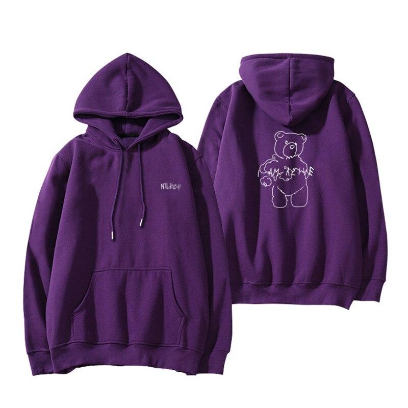 Wanna one Pei Zhen Ying Li Dahui twice Hom Ping Tao purple Sweatshirts plus velvet Hoodies pullover