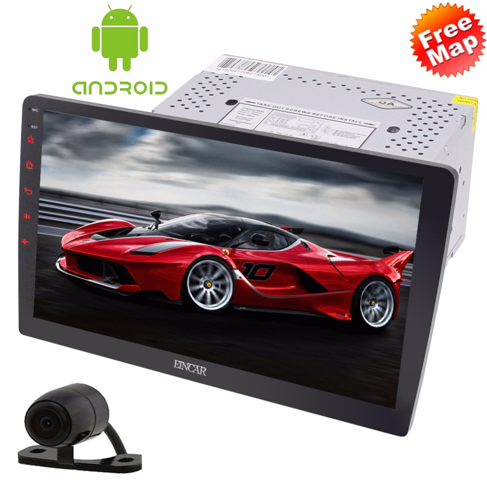 Upgrade Dash 2 Din GPS Navigation with 10.1 inch Large Rotary Screen Support Bluetooth Wifi Mirrorlink+Free Rear Camera Included
