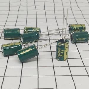 High Quality 50 Pcs/Lot 1000UF 6.3V Volume 8*12 Mail Dip Electrolytic Capacitors 1000 UF 6.3 V IC(China)