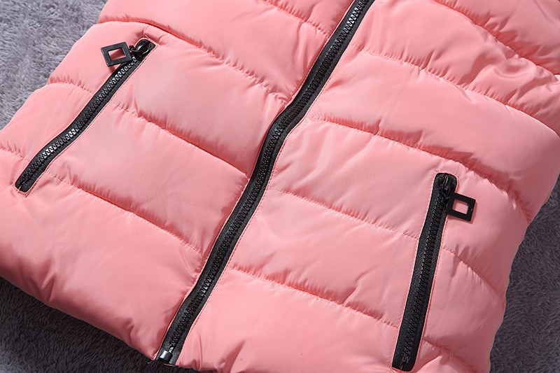 down vest with fur 0W0125 pink-6