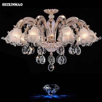SHIXINMAO  Luxury Crystal Chandelier Living Room Lamp lustres de cristal indoor Lights Crystal Pendants For Chandeliers