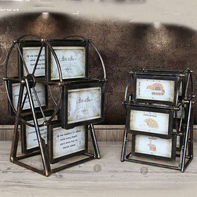 2016 New Ferris Wheel Shape Photo Frame Vintage Style Picture Frame