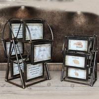 2016 NEW Ferris Wheel Shape Photo Frame Vintage Style Picture Frame with 6 frames Windmill Shape Fashion Home Decoration Frame