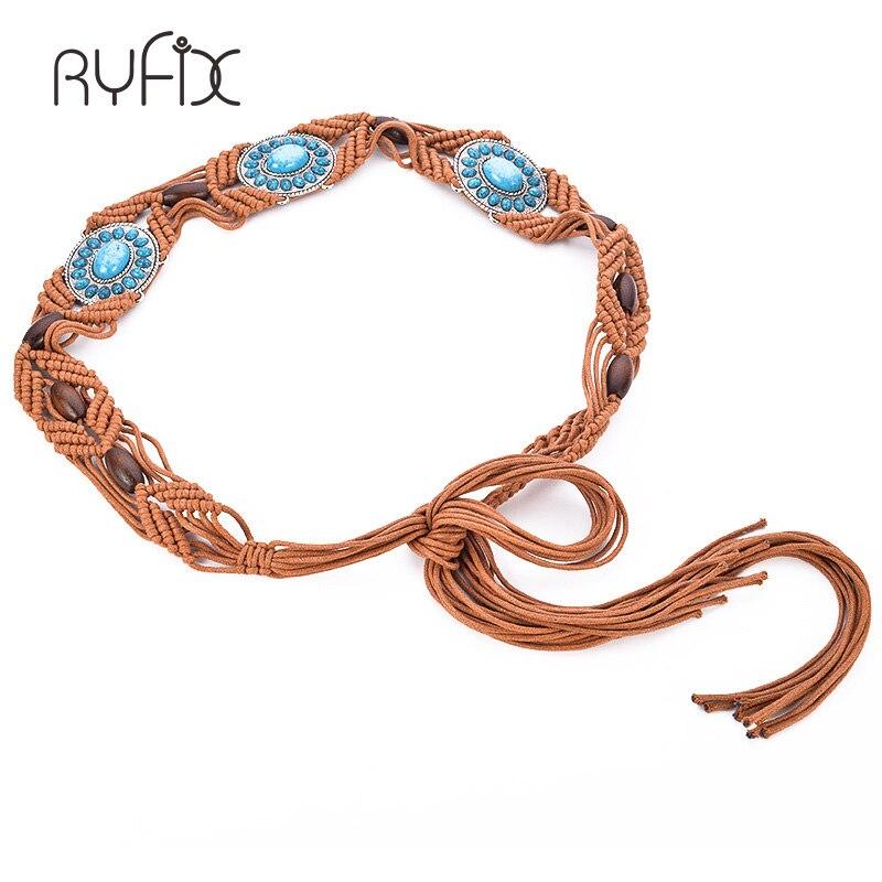Boho Style Rope Vintage handmade Knitted Designer   Belts   Gift For dress With beaded Wide Waistband   belt   BL322