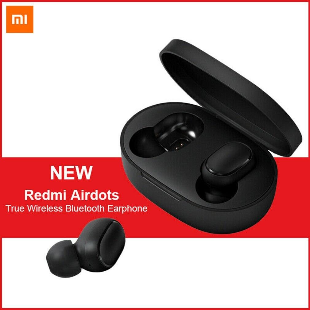 100% оригинал, Xiaomi mi, Red mi AirDots TWS, настоящие беспроводные Bluetooth наушники, стерео, Bluetooth, 5,0 mi ni, гарнитура с mi c, наушники