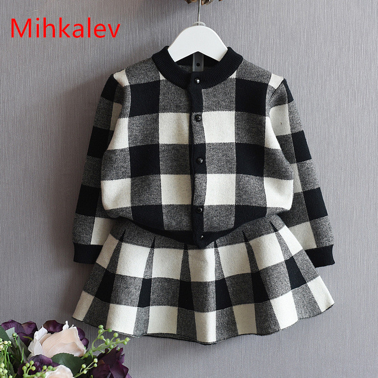 Mihkalev 2018 autumn winter children clothes set for girl clothing sets tops skirts girls 2pcs sport suit kids tracksuit outfit children boys clothes 2018 autumn winter girls clothes batman costume hoodie pant outfit kids sport suit for girls clothing sets