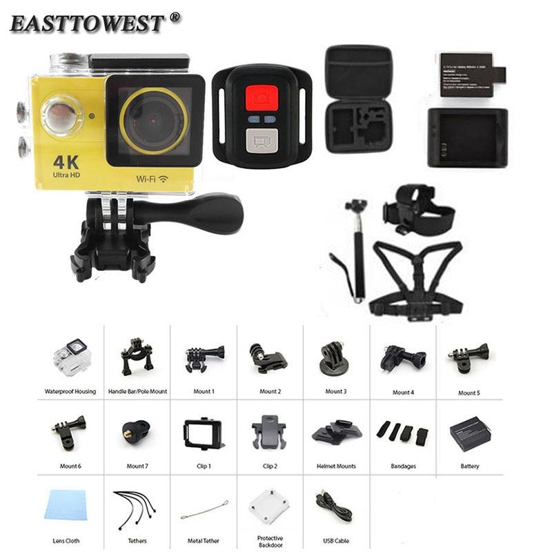 H9R Remote 4K Action Camera 2 170D Wifi 30M Underwater Helmet Cam Go Waterproof Pro Sport