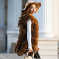 2016Winter Fashion  Real Fur Vest  Real  Coats Woman Fox Fur Coat Female Ladies Genuine Fox Fur Jackets