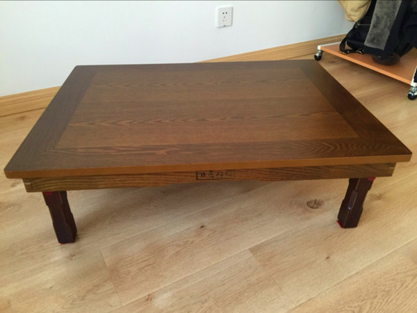 korean dining table wood legs folding rectangle 120x80cm living room furniture asian antique floor tea table