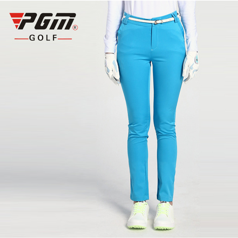 PGM Solid Golf Pants For Women Nylon Quick Dry Sports Trousers Professional Golf Clothing Lady Elastic Golf Trousers 4 Colors