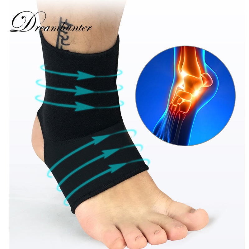 Basketball Outdoor Sport Fitness Athletes Safety Protects Football Adjustable Ankle Support Strap Wrap Compression Brace One Size for Gym