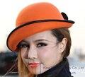 Бесплатная Доставка Моды и Новый Элегантный Женщины Шляпа Шерсть Фетровая Шляпа Короткий Брим Женский Hat Два Цвета Доступны С Рулона Края