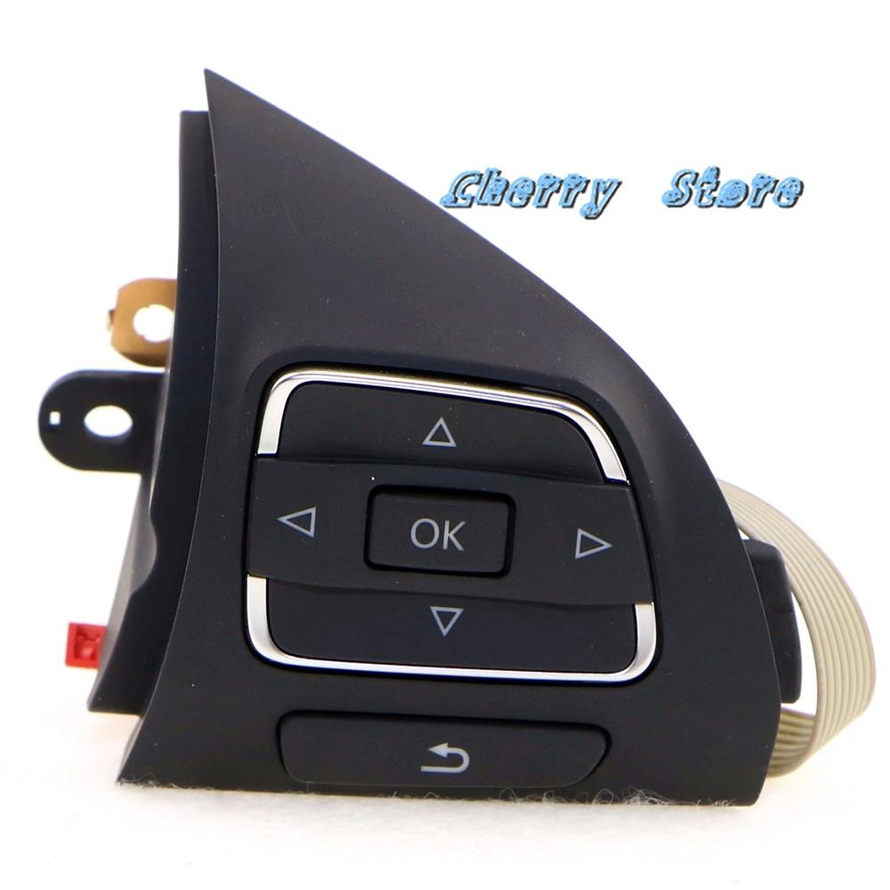 Genuine OEM Right Side MFSW Multifunction Steering Wheel Button Fit VW Jetta Golf MK6 MKVI Eos
