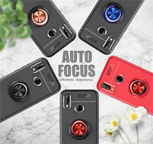 Case For Huawei P20 Lite Magnetic Car Holder Phone Luxury Soft Silicone Ring TPU Shell P20Pro Coque