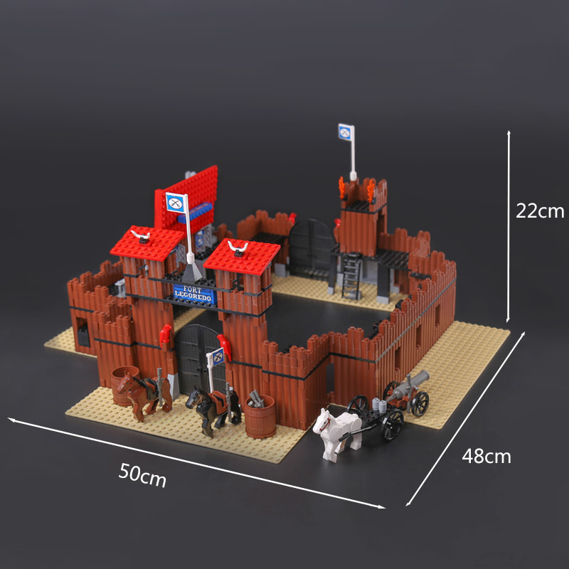 Lepines 742Pcs Genuine Building Series The Idian Cowboy`s Castle Set Educational Building Blocks Bricks Toys Model Gift lepin 16017 castle series genuine the king s castle siege set children building blocks bricks educational toys model gifts