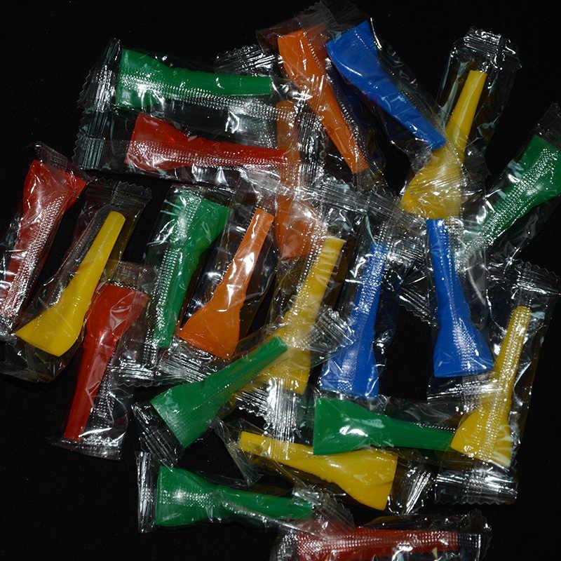 10Pcs 。 20Pcs 。 50 ピースシーシャ水ギセル口の先端フィルター使い捨て水ギセルのためのカラフルな。混合色