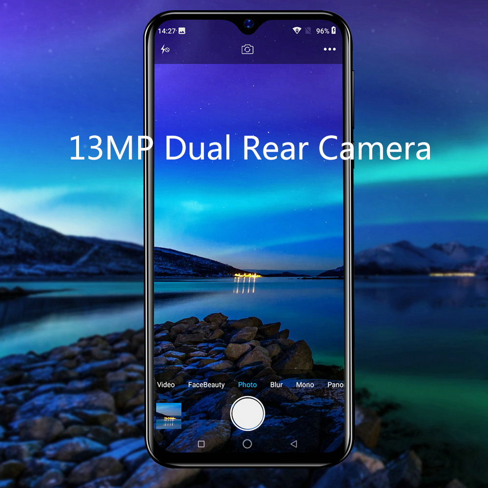 Blackview A60 Original New Smartphone 6.1 inch 19.2:9 Waterdrop HD Screen 1GB+16GB Android 8.1 4080mAh 5MP+13MP 3G Mobile Phone