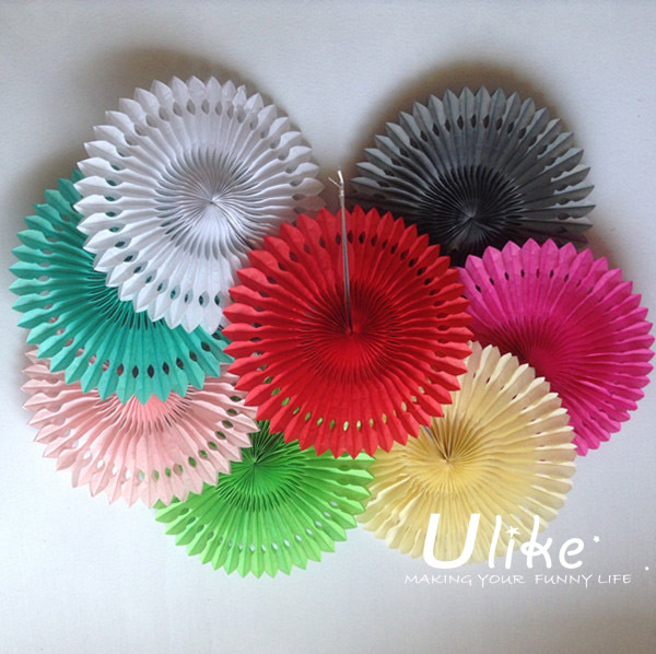 coloured paper craft ideas 12inch 100ps mixed color honeycomb flower lantern fan 3679