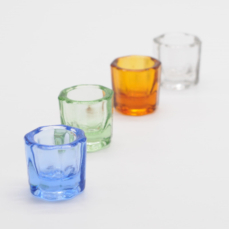 Dentistry Mixing Bowls Glass Dappen Dish Household Octagonal Cups Reconcile Cup For Dental Lab