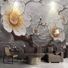 3D Wallpaper Stereo Relief Plum Blossom Flowers Photo Wall Murals Living Room Bedroom Background Wall Paper For Walls Home Decor стоимость