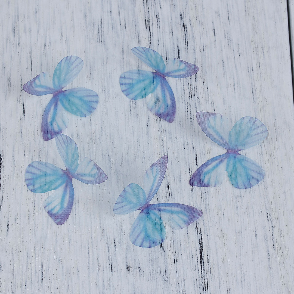 8SEASONS Organza For DIY & Craft Ethereal Butterfly 30mm long, 5 PCs
