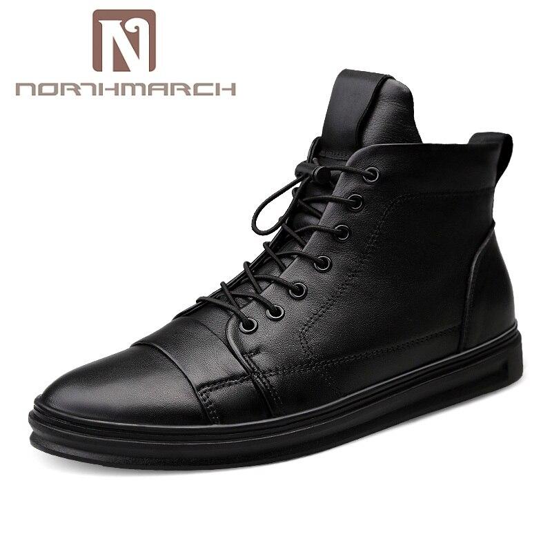NORTHMARCH Baskets Hommes 2019 De Luxe De Mode En Cuir Véritable chaussures pour hommes Tenis décontracté Masculino Chaussures Zapatos Cuero Hombre