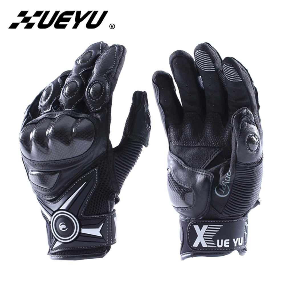 Japanese leather motorcycle gloves - Xueyu Motorcycle Gloves Leather Luva Motociclista Racing Gloves Carbon Fiber Guantes Moto Motorbike Gloves Guantes Motocross