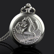 Silver tone Anime Fullmetal Alchemist Pocket Watch Gifts